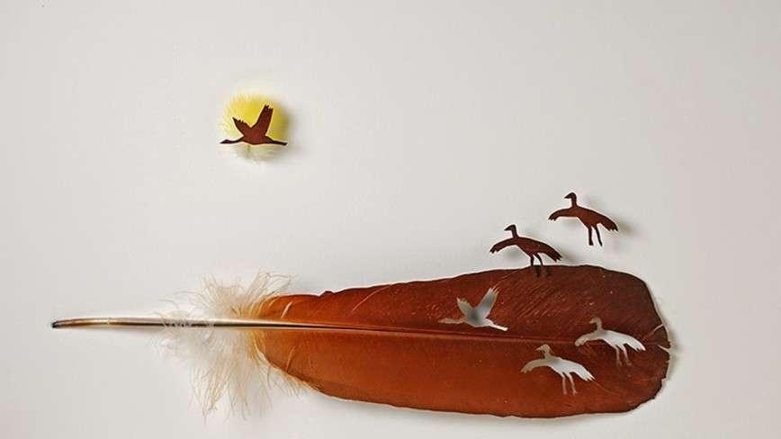 Резьба по перьям