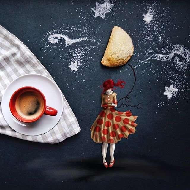 Сказки и кофе в иллюстрациях
