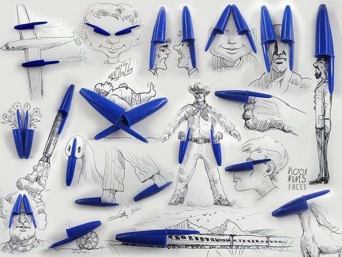 Иллюстрации с реальными предметами